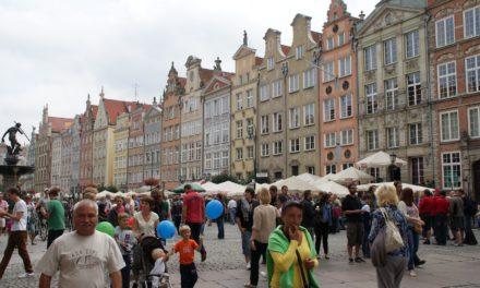 Rolig formiddag i gamlebyen, Gdansk