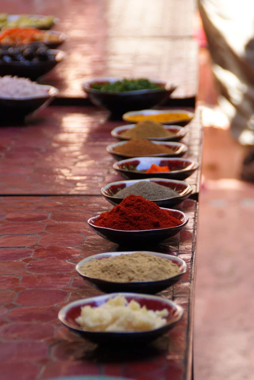 Krydder marokkansk matlaging