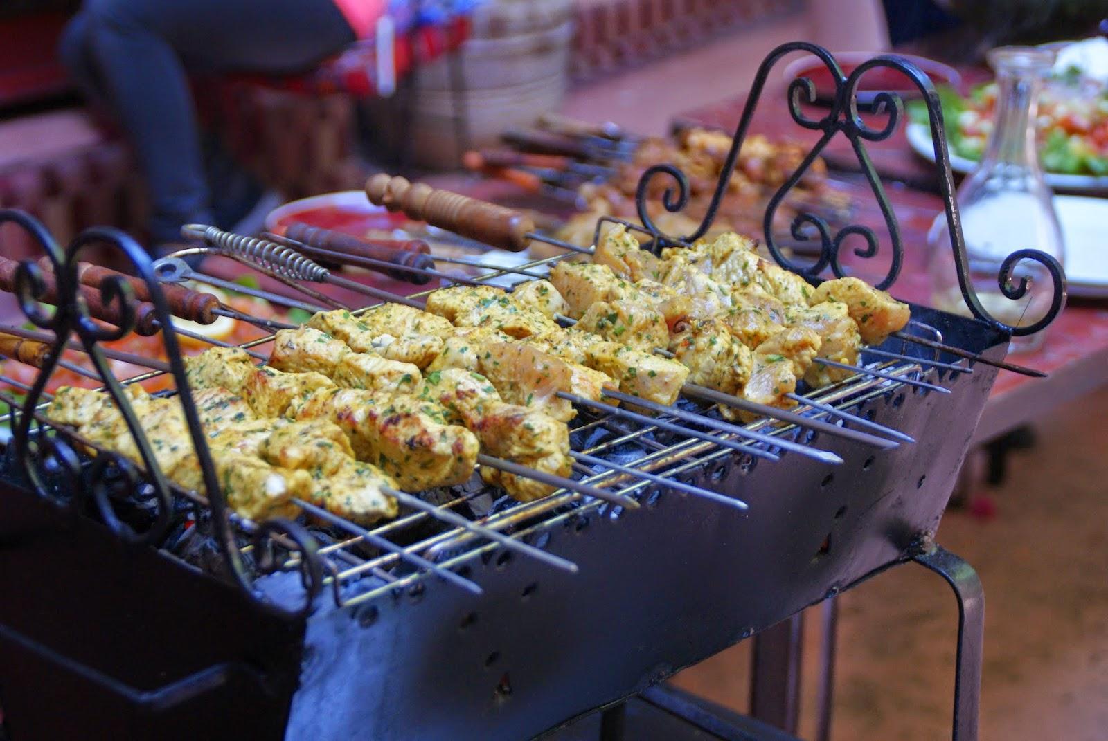 Marokkansk grillspyd