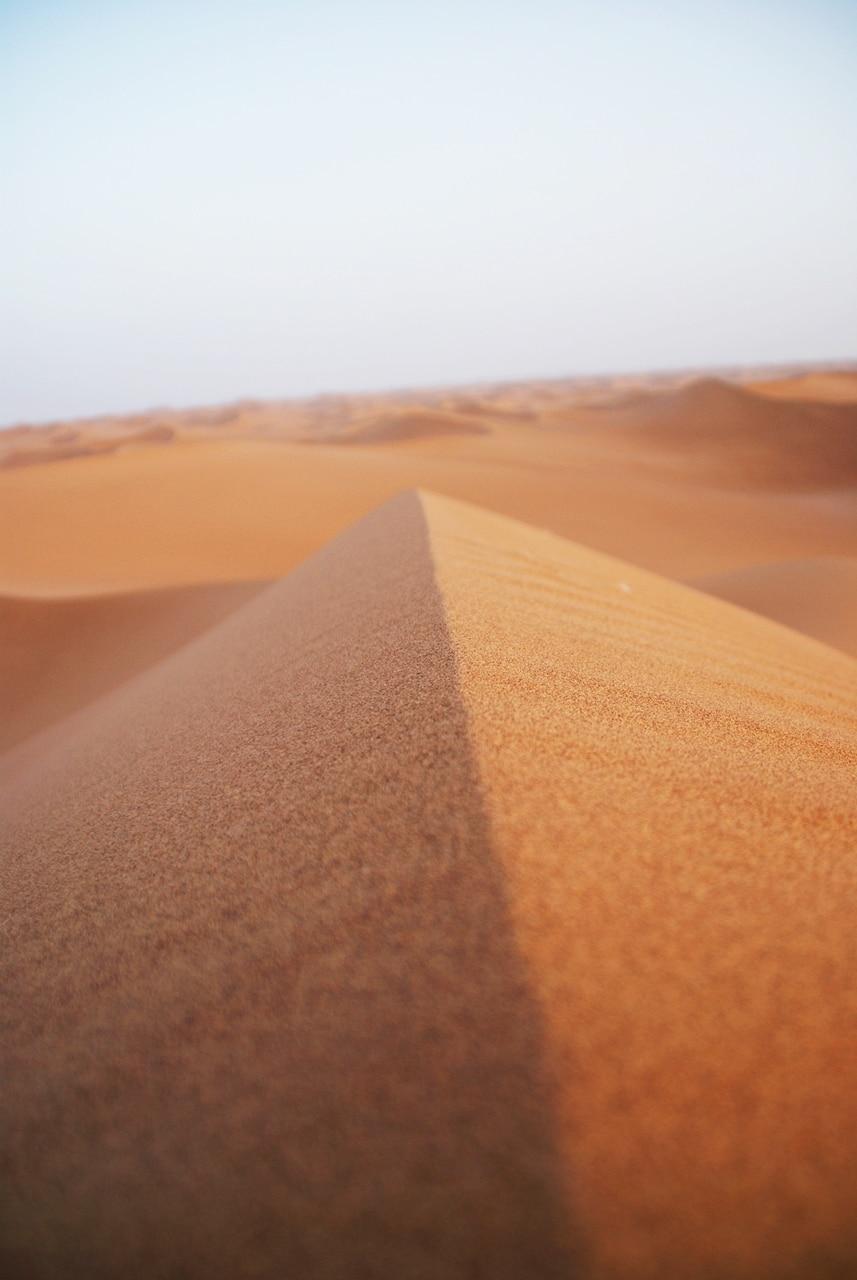 Toppen av en sanddyne