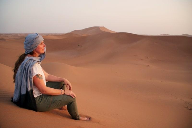 Stillhet på toppen av en sanddyne