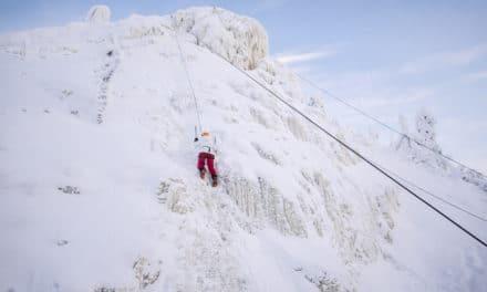 Om å utfordre tyngdekraften i en isvegg