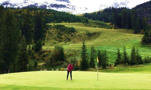 En runde golf i de Østerrikske alper
