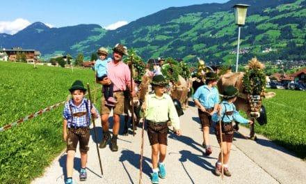 Bli med å feire dyrenes hjemkomst med Almabtrieb i Tirol