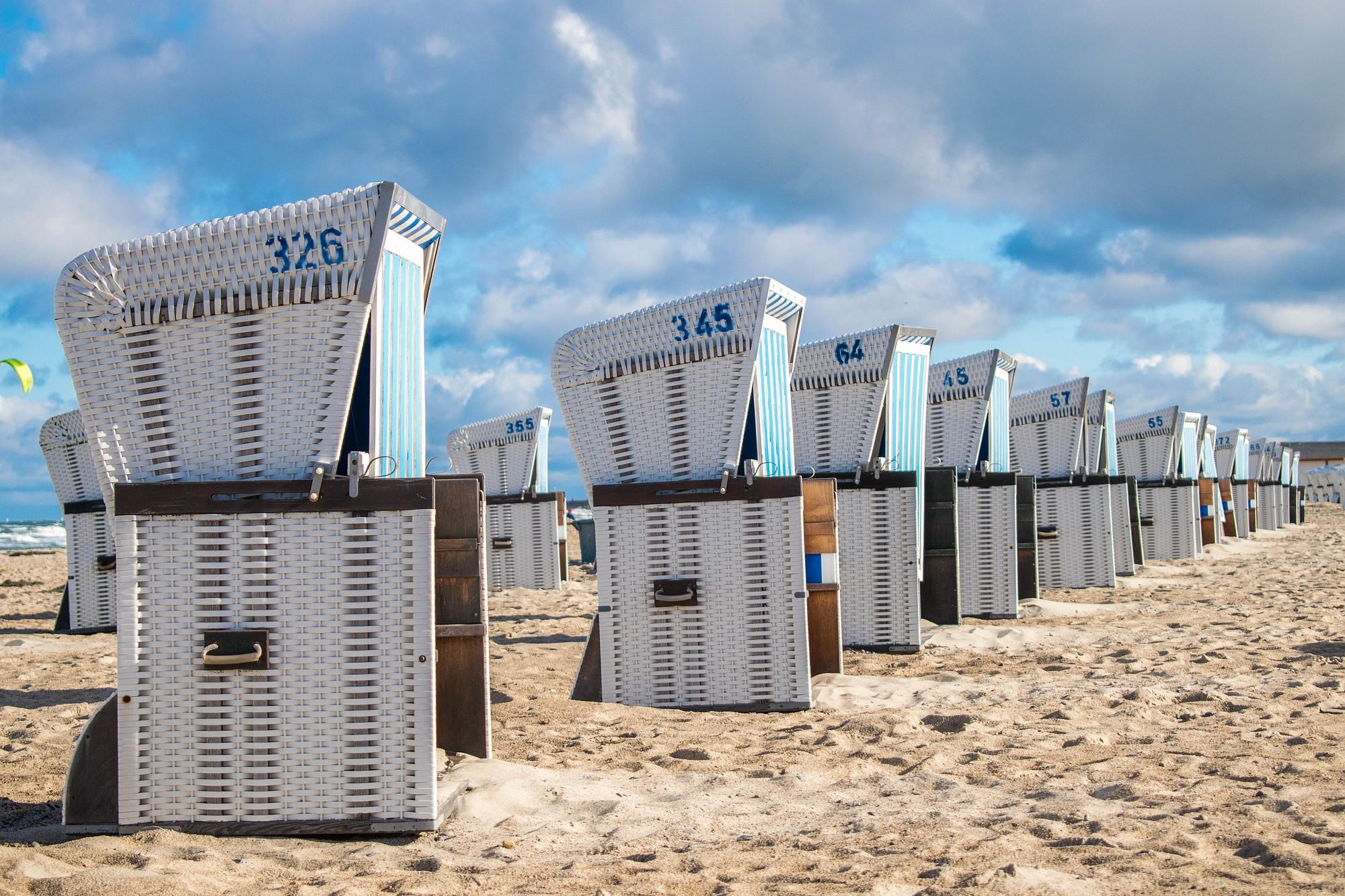 Strandstoler i Warnemunde