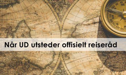 Når UD utsteder offisielt reiseråd