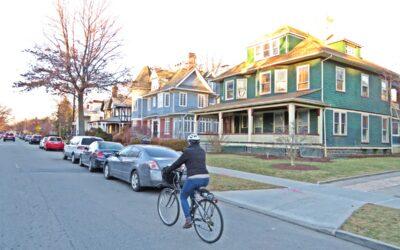 På sykkel i New York