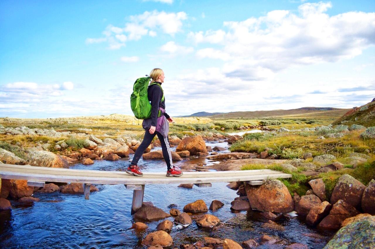 vandretur på hardangervidda med ryggsekk