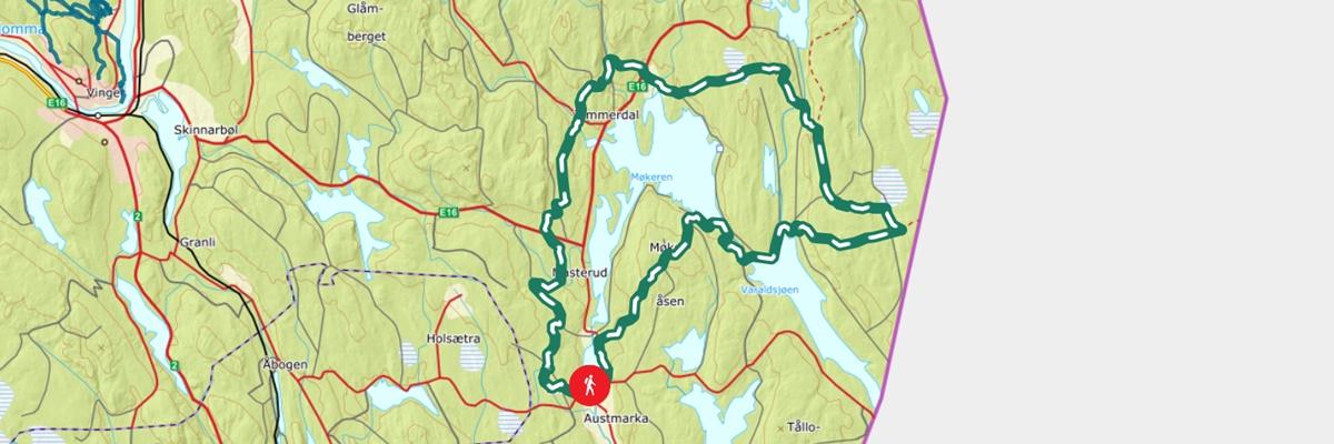 kart historisk vandrerute finnskogrunden