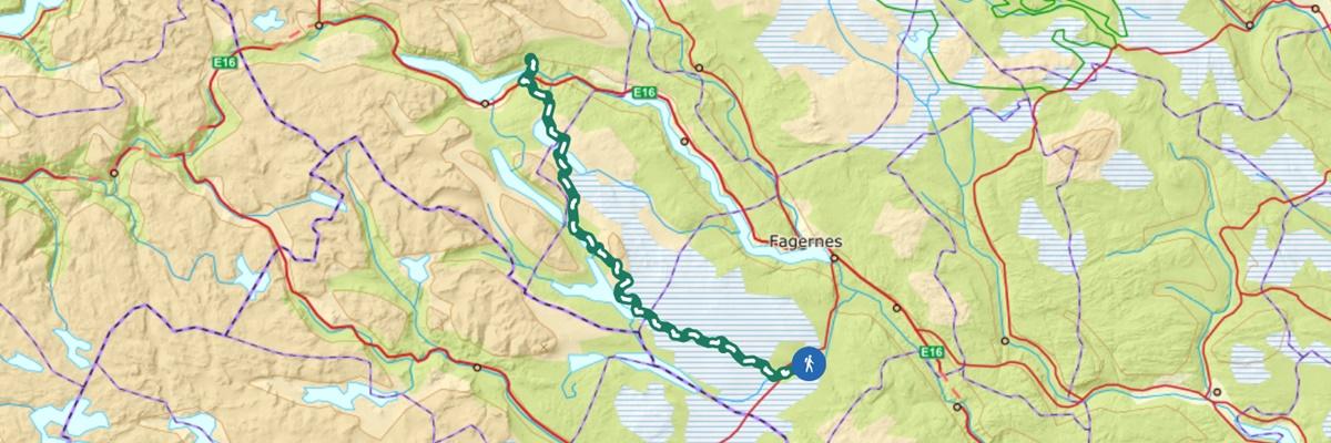 kart historisk vandrerute stølsruta