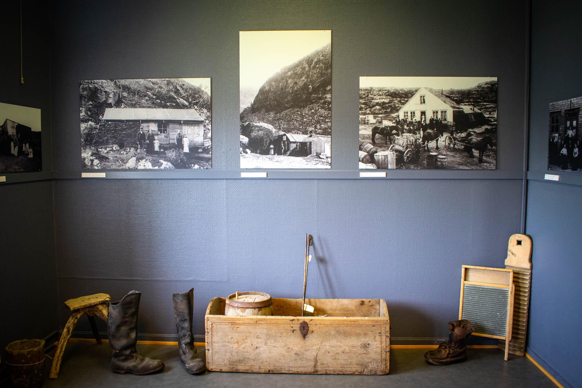 Utstilling av rallarlivet i Rombaksbotn på Narvik Museum Nord