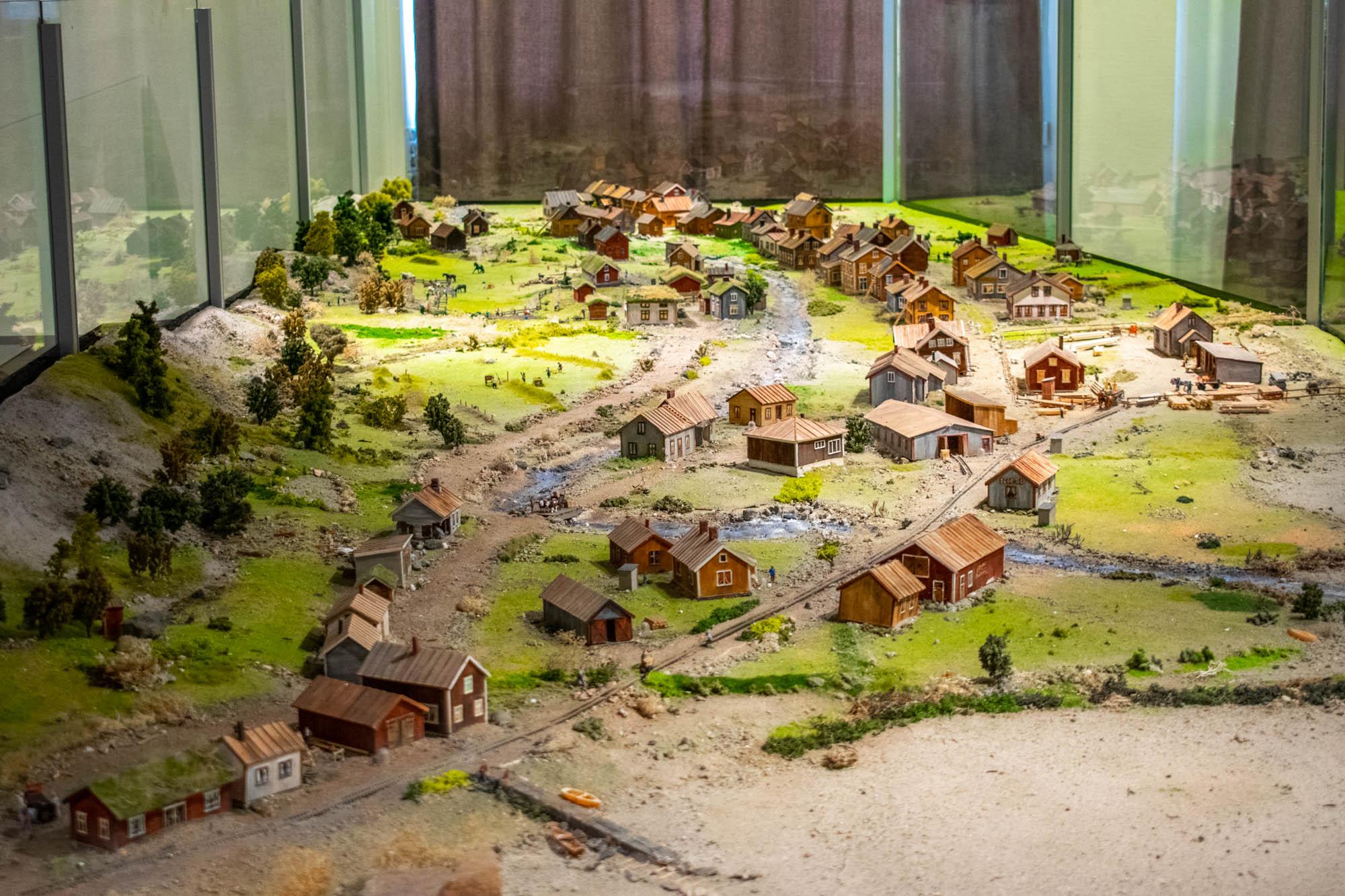 Modell av bosetningen i Rombaksbotn