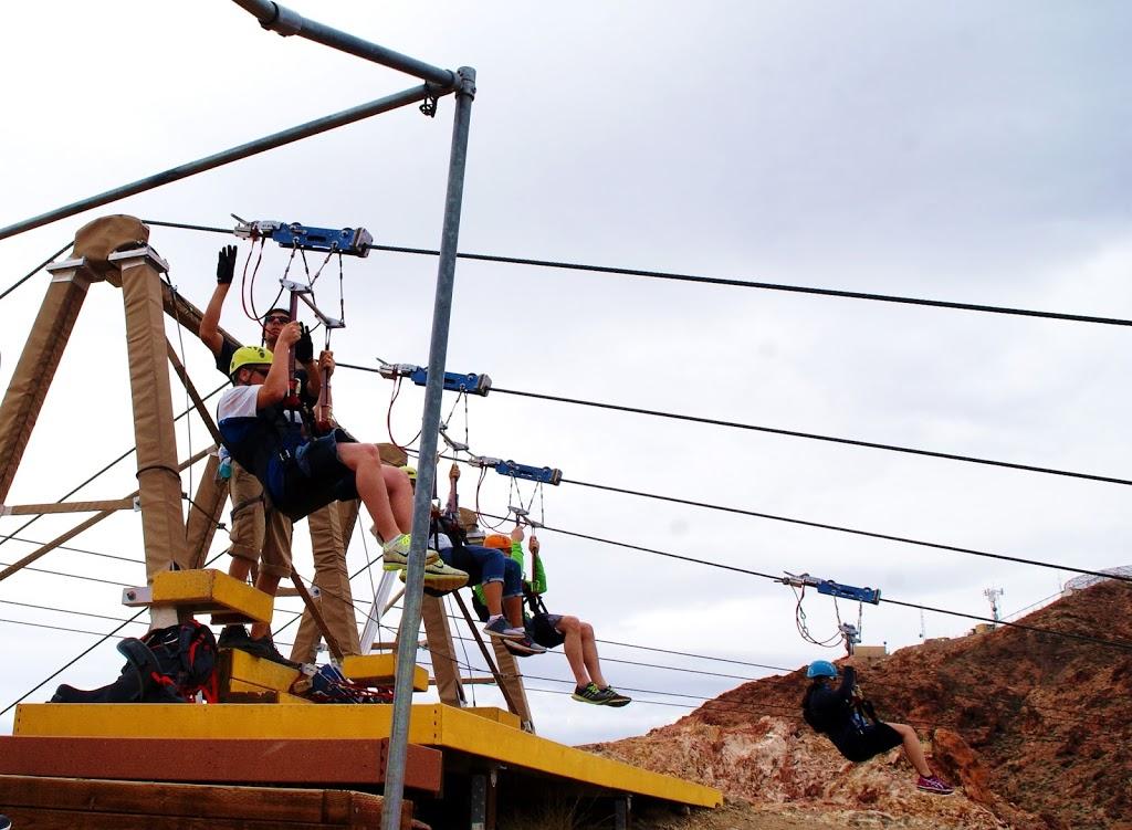Adrenalinkick med Zipline i Boulder City